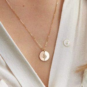 Lilac Bohemian Flower Minimalist Charm Necklace